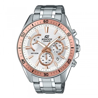 (OFFICIAL MALAYSIA WARRANTY) Casio Edifice EFR-552D-7A Men's Chronograph Date Steel Watch EFR-552D-7AV