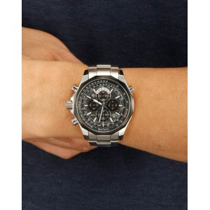 (OFFICIAL MALAYSIA WARRANTY) Casio Edifice EFR-507SP-1A Men's Chronograph Date Steel Watch EFR-507SP-1AV
