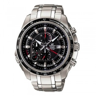 (OFFICIAL MALAYSIA WARRANTY) Casio Edifice EF-545D-1A Men's Chronograph Alarm Date Steel Watch EF-545D-1AV