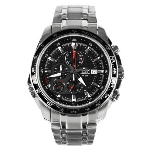 (OFFICIAL MALAYSIA WARRANTY) Casio Edifice EF-545D-1A Men's Chronograph Alarm Date Steel Watch EF-545D-1AV