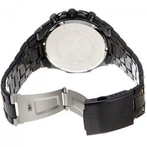 (OFFICIAL MALAYSIA WARRANTY) Casio Edifice EFR-539BK-1A Men's Chronograph Black Steel Watch EFR-539BK-1AV