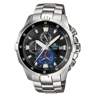 (OFFICIAL MALAYSIA WARRANTY) Casio Edifice EFM-502D-1A Men's Marine Line Chronograph Steel Watch EFM-502D-1AV