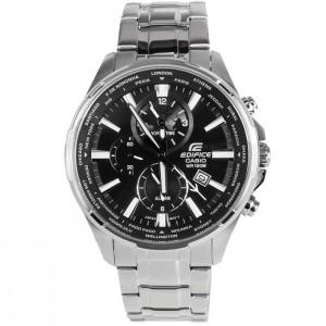 (OFFICIAL MALAYSIA WARRANTY) Casio Edifice EFR-304D-1A Men's Dual Dial World Time Alarm Steel Watch EFR-304D-1AV