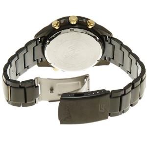(OFFICIAL MALAYSIA WARRANTY) Casio Edifice EFR-534BK-9A Men's Chronograph LED Backlight Black Steel Watch EFR-534BK-9AV