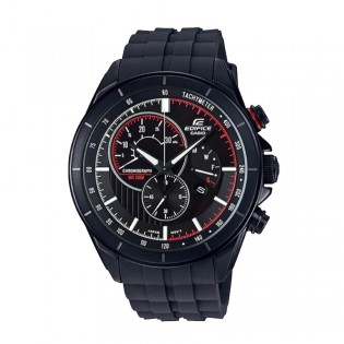 (OFFICIAL MALAYSIA WARRANTY) Casio Edifice EFR-561PB-1A Men's Chronograph Day Date Resin Band Watch EFR-561PB-1AV