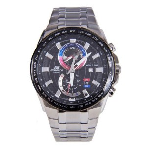 (OFFICIAL MALAYSIA WARRANTY) Casio Edifice EFR-550D-1A Men's World Time Alarm Steel Watch EFR-550D-1AV