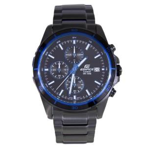 (OFFICIAL MALAYSIA WARRANTY) Casio Edifice EFR-526BK-1A2 Men's Chronograph Date Black Steel Watch EFR-526BK-1A2V