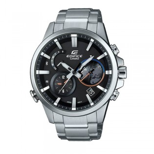 (OFFICIAL MALAYSIA WARRANTY) Casio Edifice EQB-600D-1A Men's Smartphone Link Bluetooth Solar Steel Watch EQB-600D-1AER