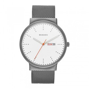 Skagen SKW6321 Men's Ancher Titanium Steel-Mesh Watch