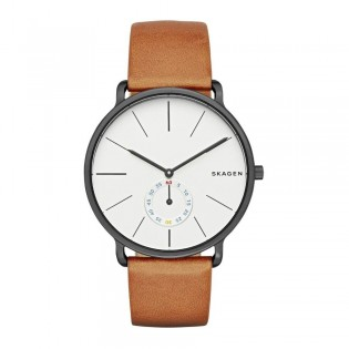Skagen SKW6216 Men's Hagen Quartz Brown Leather Watch