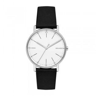 Skagen SKW6353 Men's Signatur Quartz Black Leather Watch