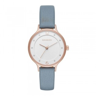 Skagen SKW2497 Women's Anita Quartz Blue Leather Watch