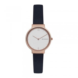 Skagen SKW2608 Women's Ancher Quartz Dark Blue Leather Watch