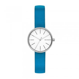 Skagen SKW2597 Women's Signatur Quartz Blue Leather Watch
