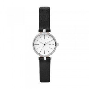 Skagen SKW2639 Women's Signatur Quartz Black Leather T-Bar Watch