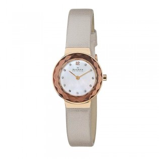 Skagen 456SRLT Women's Leonora Quartz Leather Watch