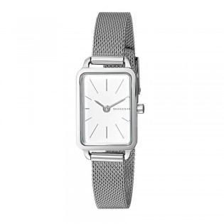 Skagen SKW2655 Women's Hagen Mini Rectangular Steel Mesh Watch