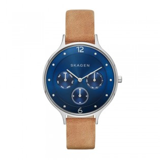 Skagen SKW2310 Women's Anita Leather Multifunction Watch