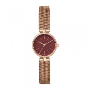 Skagen SKW2640 Women's Signatur Rose Gold Mesh T-Bar Watch