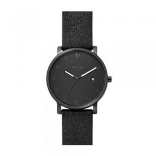 Skagen SKW6308 Men's Hagen Quartz Black Leather Watch