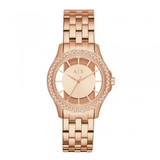 Armani Exchange AX5252 Women's Hampton Quartz Rose Gold Steel Watch