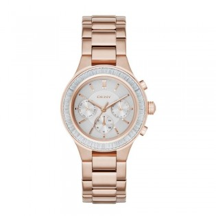 DKNY NY2396 Women's Chambers Multifunction Rose Gold Steel Watch