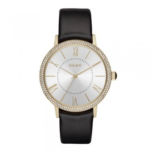 DKNY NY2544 Women's Wiloughby Gold Toned Leather Watch