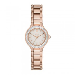 DKNY NY2393 Women's Chambers Quartz Rose Gold Steel Watch