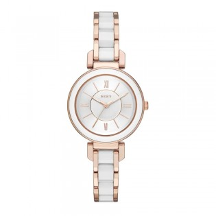 DKNY NY2589 Women's Ellington Rose Gold & Ceramic Watch