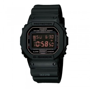 G-Shock DW-5600MS-1 Men's Digital Classic Military Black Resin Watch DW-5600MS-1V