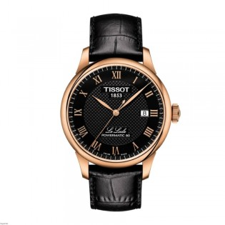 Tissot T006.407.36.053.00 Men's Le Locle Powermatic 80 Automatic Rose Gold Leather Watch