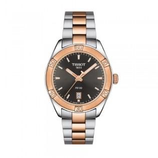 Tissot T101.910.22.061.00 Women's PR 100 Sport Chic Quartz 2 Toned Watch