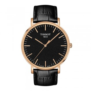 Tissot T109.610.36.051.00 Men's Everytime Large Quartz Rose Gold Leather Watch