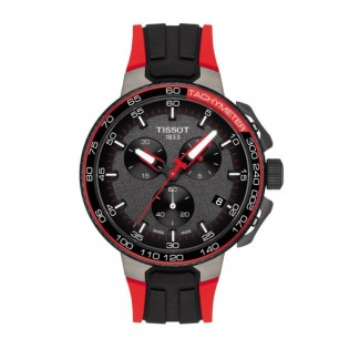 Tissot T111.417.37.441.01 Men's T-Race Cycling Vuelta Edition Silicone Strap Watch