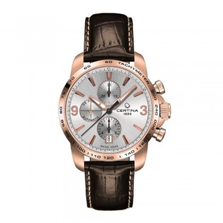 Certina C001.427.36.037.00 Men's DS Podium Automatic Chronograph Rose Gold Leather Watch
