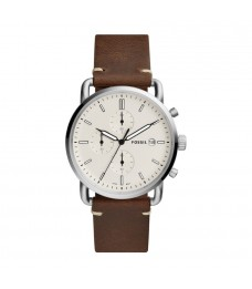 Fossil FS5402 Men's Commuter Chronograph Brown Leather Watch
