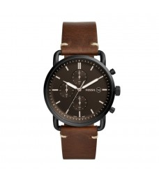 Fossil FS5403 Men's Commuter Chronograph Brown Leather Watch