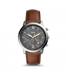 Fossil FS5408 Men's Neutra Chronograph Light Brown Leather Watch
