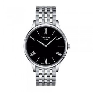 Tissot T063.409.11.058.00 Men's Tradition 5.5 Thin Swiss Quartz Stainless Steel Man Watch (Black)
