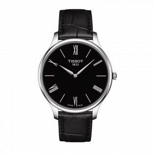 Tissot T063.409.16.058.00 Men's Tradition 5.5 Thin Swiss Quartz Leather Strap Man Watch (Black)