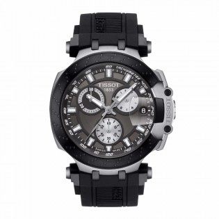 Tissot T115.417.27.061.00 Men's New 2018 T-Race Chronograph Swiss Quartz Black Silicone Strap Man Watch