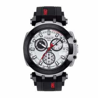 Tissot T115.417.27.011.00 Men's New 2018 T-Race Chronograph Swiss Quartz Black Silicone Strap Man Watch
