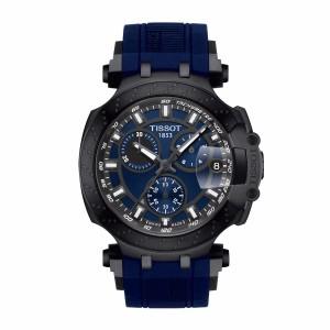 Tissot T115.417.37.041.00 Men's New 2018 T-Race Chronograph Swiss Quartz Blue Silicone Strap Man Watch