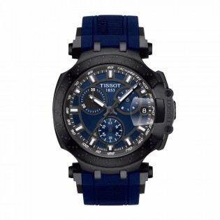 Tissot T115.417.37.041.00 Men's New 2018 T-Race Chronograph Swiss Quartz Blue Silicone Strap Man Watch