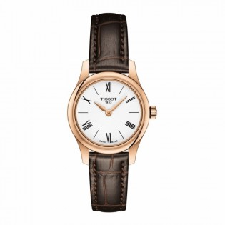 Tissot T063.009.36.018.00 Women's Tradtition 5.5 Think Small Swiss Quartz Leather Lady Rose Gold Watch