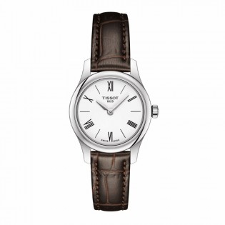 Tissot T063.009.16.018.00 Women's Tradtition 5.5 Think Small Swiss Quartz Leather Lady White Watch