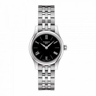 Tissot T063.009.11.058.00 Women's Tradtition 5.5 Think Small Swiss Quartz Stainless Steel Lady Black Watch