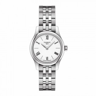 Tissot T063.009.11.018.00 Women's Tradtition 5.5 Think Small Swiss Quartz Stainless Steel Lady White Watch