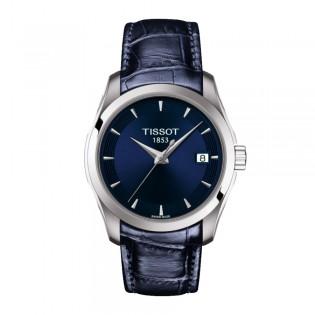 Tissot T035.210.16.041.00 Women's Couturier Lady Swiss Quartz Leather Strap Blue Watch