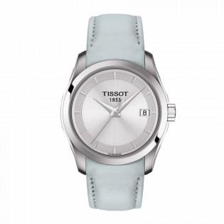 Tissot T035.210.16.031.02 Women's Couturier Lady Swiss Quartz Leather Strap Light Blue Watch